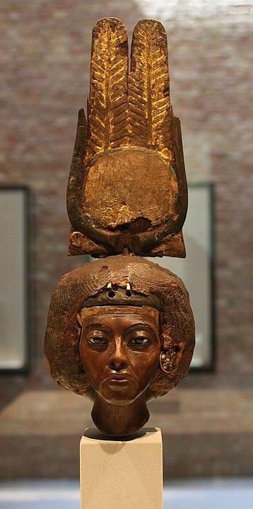 Ein Foto der Büste von Teje im Museum Berlin